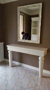 consolle con specchio